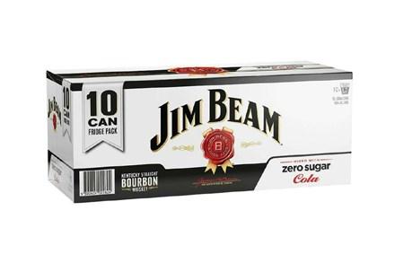 Jim Beam Zero 10*330ml Cans Jim Beam Zero 10*330ml Cans