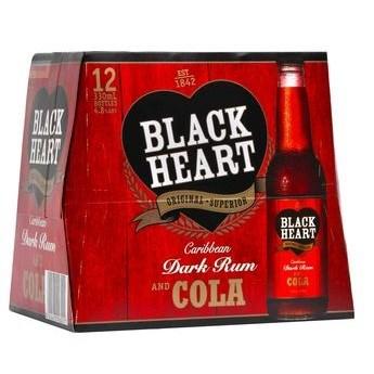BLACK HEART 12PK BOTTLES BLACK HEART 12PK BOTTLES